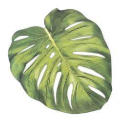 Placemat Monstera Blad  12 stuks