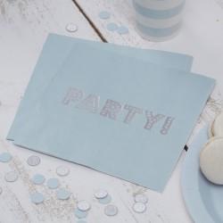 Servetten pastel blauw  PARTY! 20 stuks