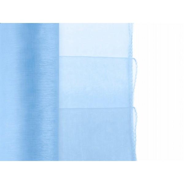 Organza gezoomd lichtblauw  9 meter