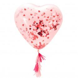 Giant Hart Ballon met confetti
