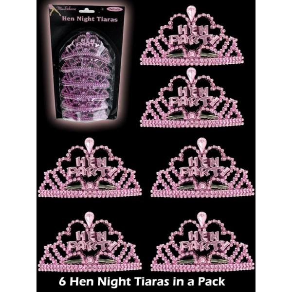 Tiara's roze  6 stuks