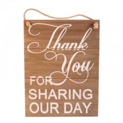 Tekstbord 'Thank you'