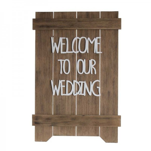 Welkomstbord 'Welcome to our wedding'