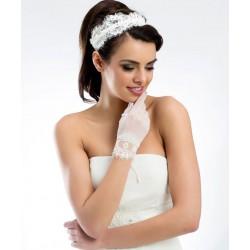 Bruidshandschoenen tule en kant