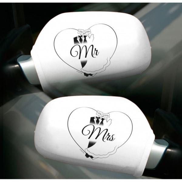 Autospiegelhoezen Mr en Mrs
