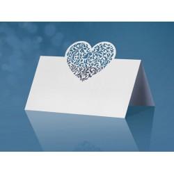 Plaatsnaamkaartjes Heart   10 stuks