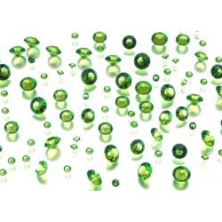 Diamant confetti lichtgroen  assorti