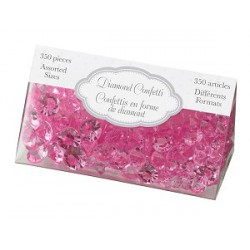 Diamant confetti fuchsia roze  assorti