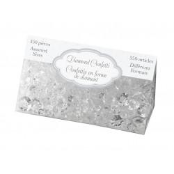 Diamant confetti transparant   assorti