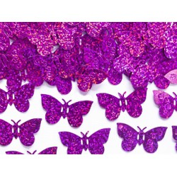 Confetti metallic vlinders fuchsia