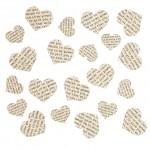 Confetti hartjes krantenknipsels