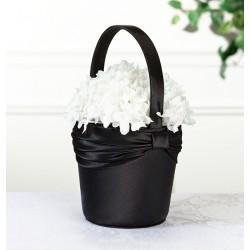 Bloemenmandje zwart
