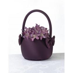 Bloemenmandje paars