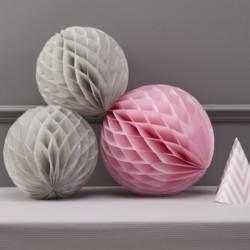 Honeycomb grijs en roze