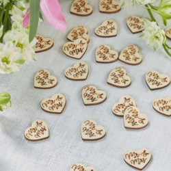 Houten confetti Boho Mr & Mrs