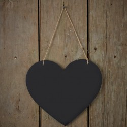Krijtbord hartvorm