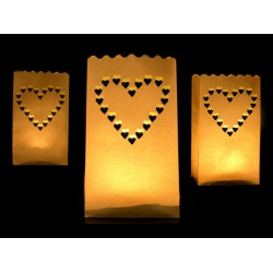 Candlebags Hearts 10 stuks
