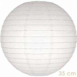 Lampion wit  35 cm