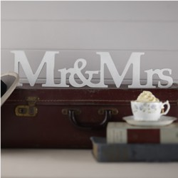 Houten letters Mr & Mrs