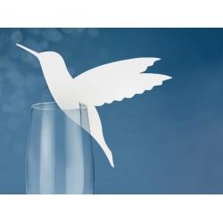 Plaatsnaamkaartje Bird op glas