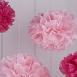 Pom poms mix roze