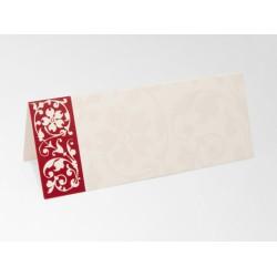 Plaatsnaamkaartjes ivoor/rood