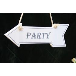 Wegwijzerbord 'Party'