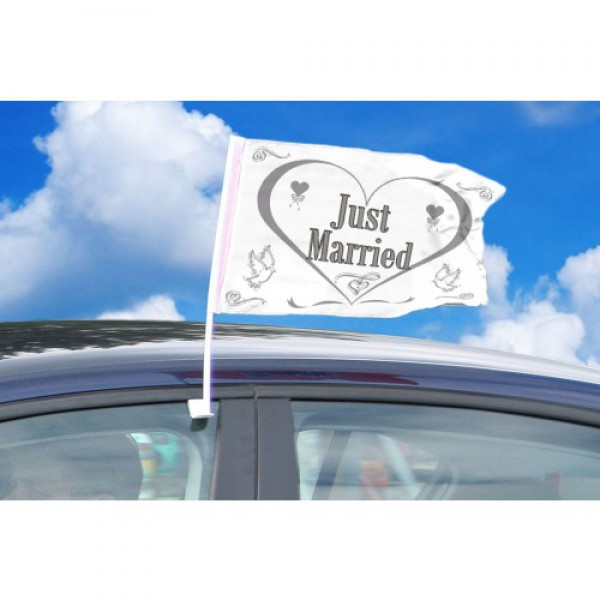 Autovlaggen Just Married
