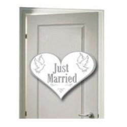 Deurbord 'Just Married'