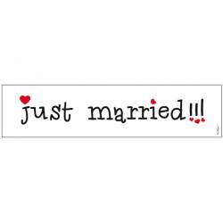 Kentekenplaat JUST MARRIED