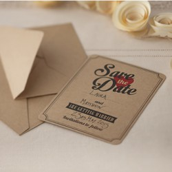 Save the date kaarten kraft  10 stuks