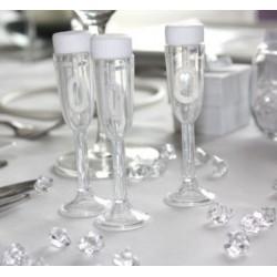 Bellenblaas champagneglaasjes   24 stuks
