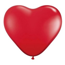 Hartballonnen rood  6 stuks