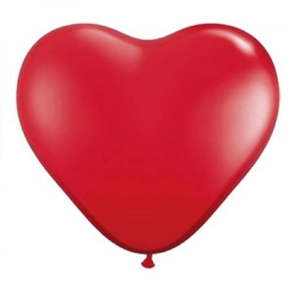 Hartballonnen rood  10 stuks