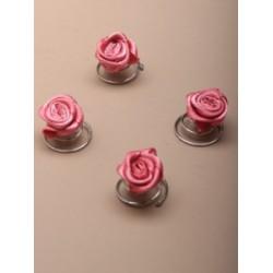 Curlies bloemetje roze  4 stuks