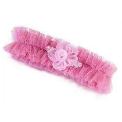 Kousenband roze