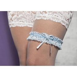 Blauwe kousenband