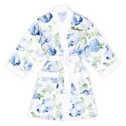 Kimono Floral Lichtblauw