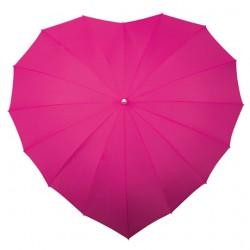 Paraplu hartvorm fuchsia