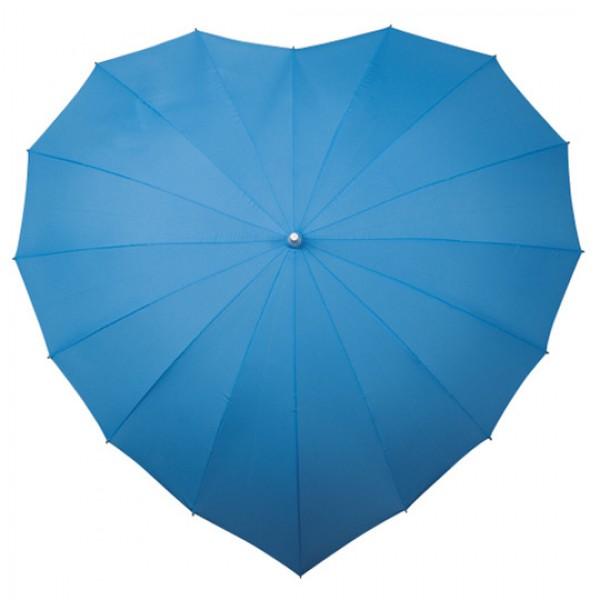 Paraplu hartvorm lichtblauw