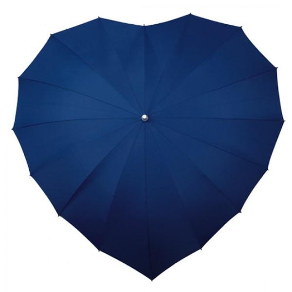 Paraplu hartvorm donkerblauw