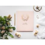 Gastenboek Pastel Roze - Goud
