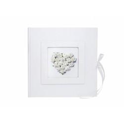 Gastenboek witte roosjes